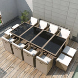 13-piece-outdoor-dining-set-with-cushions-poly-rattan-beige-vxl-42558-bitpay-zip-coinbase