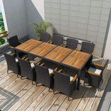 11-piece-outdoor-dining-set-with-cushions-poly-rattan-black-vxl-42571-bitpay-zip-coinbase