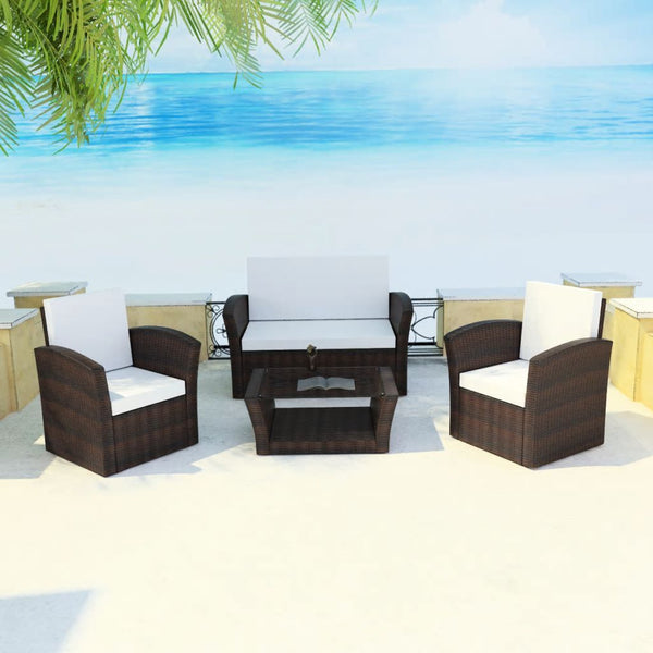4-piece-garden-lounge-set-with-cushions-poly-rattan-brown-vxl-42641-bitpay-zip-coinbase
