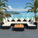 7-piece-garden-lounge-set-with-cushions-poly-rattan-black-vxl-42751-bitpay-zip-coinbase