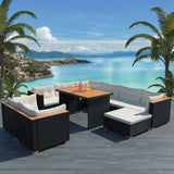 10-piece-garden-lounge-set-with-cushions-poly-rattan-black-vxl-42753-bitpay-zip-coinbase