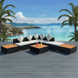 8-piece-garden-lounge-set-with-cushions-poly-rattan-black-vxl-42756-bitpay-zip-coinbase