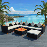 8-piece-garden-lounge-set-with-cushions-poly-rattan-black-vxl-42758-bitpay-zip-coinbase