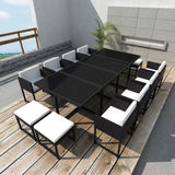 13-piece-outdoor-dining-set-with-cushions-poly-rattan-black-vxl-42761-bitpay-zip-coinbase