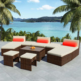 10-piece-garden-lounge-set-with-cushions-poly-rattan-brown-vxl-42855-bitpay-zip-coinbase