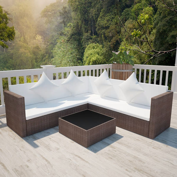 4-piece-garden-lounge-set-with-cushions-poly-rattan-brown-vxl-42894-bitpay-zip-coinbase
