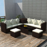 8-piece-garden-lounge-set-with-cushions-poly-rattan-brown-vxl-42898-bitpay-zip-coinbase