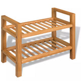 shoe-rack-with-2-shelves-49-5x27x40-cm-solid-oak-wood-vxl-244208-bitpay-gocoin-coinbase