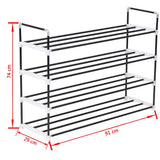 shoe-rack-with-4-shelves-metal-and-plastic-black-vxl-245626-bitpay-gocoin-coinbase