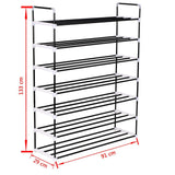 shoe-rack-with-7-shelves-metal-and-plastic-black-vxl-245627-bitpay-gocoin-coinbase