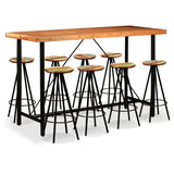 9-piece-bar-set-solid-sheesham-and-reclaimed-wood-vxl-275137-bitpay-zip-coinbase