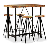 5-piece-bar-set-solid-reclaimed-wood-vxl-275143-bitpay-zip-coinbase