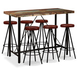 7-piece-bar-set-solid-reclaimed-wood-and-genuine-leather-vxl-275145-bitpay-zip-coinbase