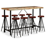 9-piece-bar-set-solid-reclaimed-wood-and-genuine-leather-vxl-275148-bitpay-zip-coinbase