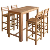 bar-table-and-chair-set-5-pieces-solid-acacia-wood-vxl-246669-bitpay-zip-coinbase