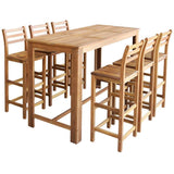 bar-table-and-chair-set-7-pieces-solid-acacia-wood-vxl-246671-bitpay-zip-coinbase