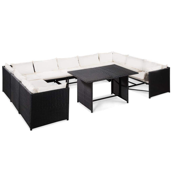 10-piece-garden-lounge-set-with-cushions-poly-rattan-black-vxl-44193-bitpay-zip-coinbase