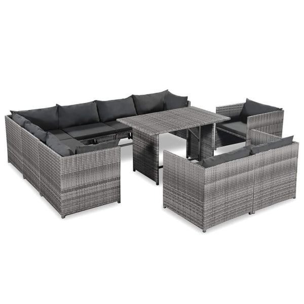 10-piece-garden-lounge-set-with-cushions-poly-rattan-grey-vxl-44195-bitpay-zip-coinbase