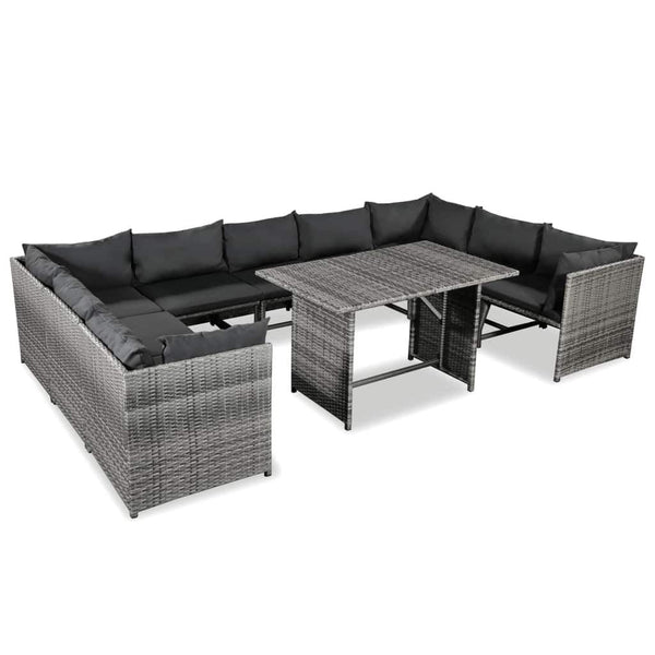 10-piece-garden-lounge-set-with-cushions-poly-rattan-grey-vxl-44201-bitpay-zip-coinbase