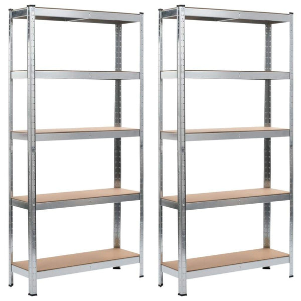 storage-shelves-2-pcs-silver-90x30x180-cm-steel-and-mdf-vxl-144269-bitpay-zip-coinbase