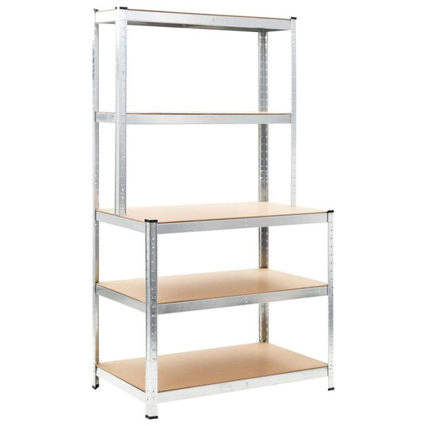 storage-shelf-silver-100x60x180-cm-steel-and-mdf-vxl-144270-bitpay-zip-coinbase