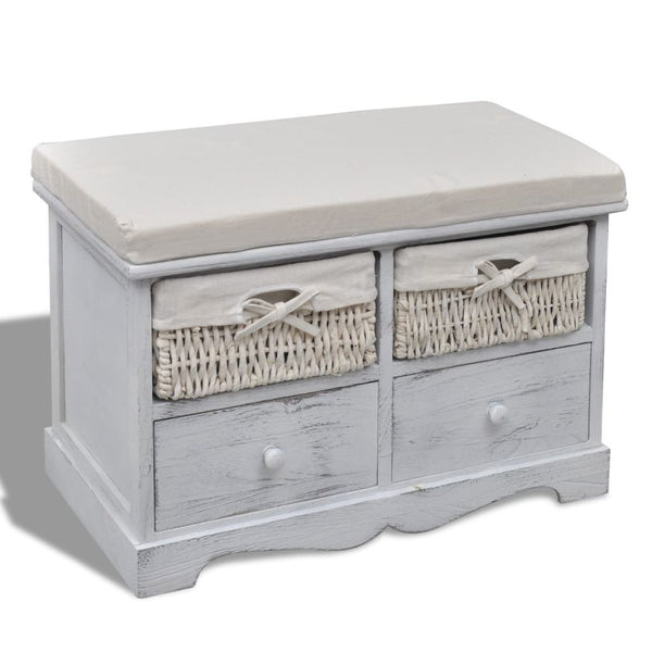 white-wooden-storage-bench-2-weaving-baskets-2-drawers-vxl-240790-bitpay-zip-coinbase