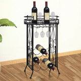 wine-rack-with-glass-holder-for-9-bottles-metal-vxl-240940-bitpay-zip-coinbase