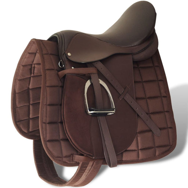 horse-riding-saddle-set-16-real-leather-brown-14-cm-5-in-1-vxl-90646-bitpay-gocoin-coinbase