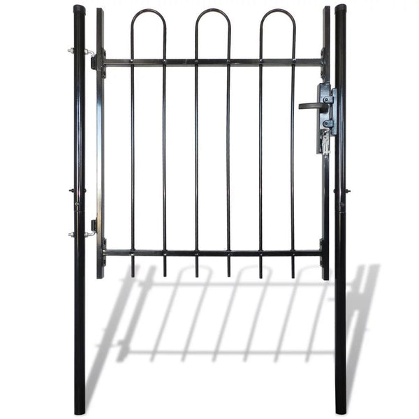 single-door-fence-gate-with-hoop-top-100-x-150-cm-vxl-141371-bitpay-zip-coinbase