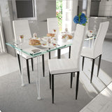 dining-set-white-slim-line-chair-4-pcs-with-1-glass-table-vxl-271691-bitpay-zip-coinbase