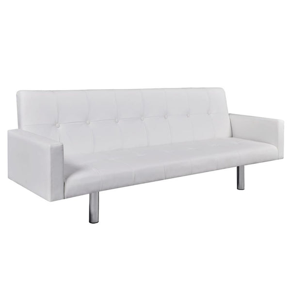 sofa-bed-with-armrest-white-artificial-leather-vxl-242215-bitpay-zip-coinbase