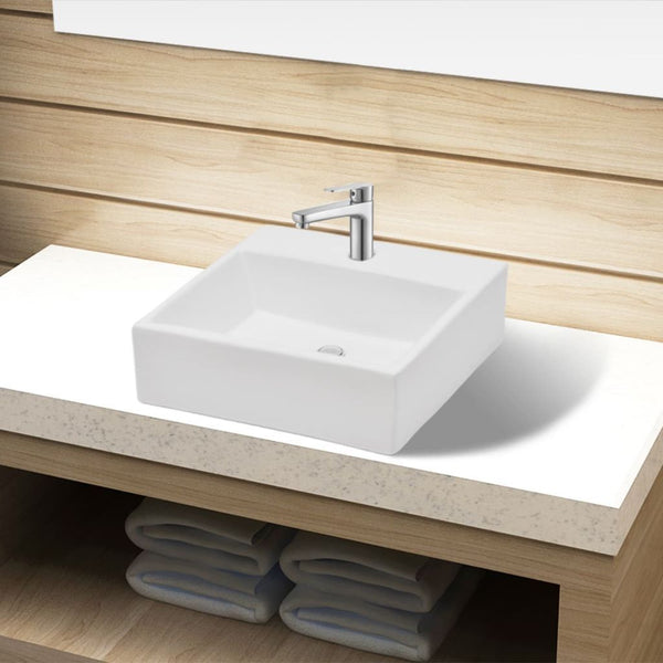 ceramic-bathroom-sink-basin-with-faucet-hole-white-square-vxl-141940-bitpay-gocoin-coinbase