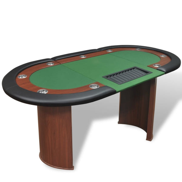 10-player-poker-table-with-dealer-area-and-chip-tray-green-vxl-80133-bitpay-zip-coinbase