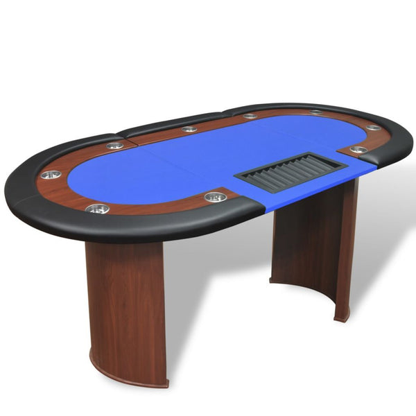 10-player-poker-table-with-dealer-area-and-chip-tray-blue-vxl-80134-bitpay-zip-coinbase