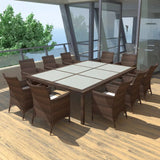 11-piece-outdoor-dining-set-with-cushions-poly-rattan-brown-vxl-41821-bitpay-zip-coinbase