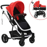 2-in-1-baby-stroller-pram-aluminium-red-and-black-vxl-10105-bitpay-zip-coinbase
