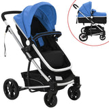 2-in-1-baby-stroller-pram-aluminium-blue-and-black-vxl-10106-bitpay-zip-coinbase