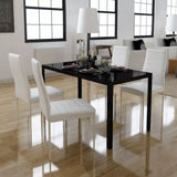 five-piece-dining-table-set-black-and-white-vxl-242989-bitpay-zip-coinbase