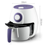 2.6L 1300W Air Fryer White