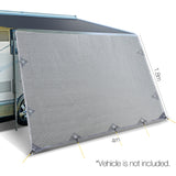 4x1.8m Car Privacy Screen Grey