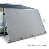 4.9x1.8m Car Privacy Screen Grey
