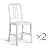 Set of 2 Replica Emeco Navy dining chair White