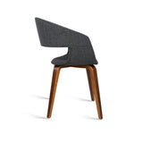 Set of 2 Modern Dining Chairs - Charcoal