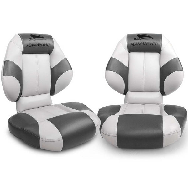 Set of 2 Folding Rotatable Boat Seats