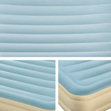 Bestway Double Inflatable Bed with Carry Bag - Light Blue & Beige