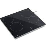 6000W Four Burner Ceramic Cooktop Black