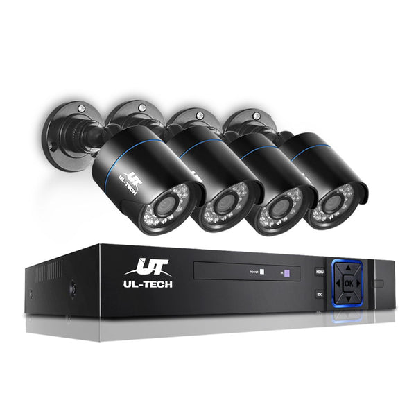 1080P Four Channel HDMI CCTV Security Camera Black