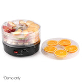 5 Tray Round Food Dehydrator Black