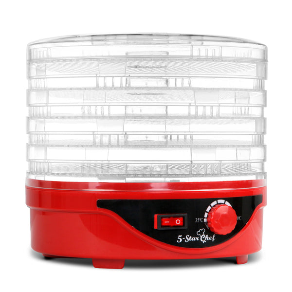5 Tray Round Food Dehydrator Red
