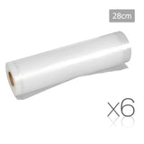 Set of 6 Food Sealer Roll 28cm x 6m
